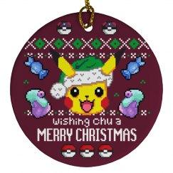 Pocket Monster Xmas Ornament