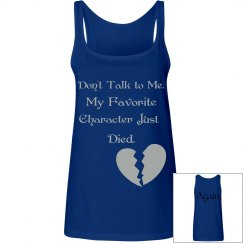 Don't talk to me women's tank