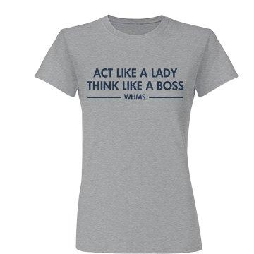 Act Like A Lady...