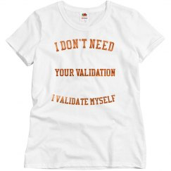Validation shirt