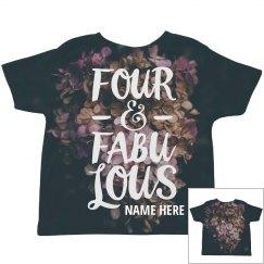 Four & Fabulous Floral Print