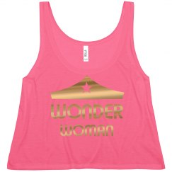Gold Metallic Wonder Woman Crop