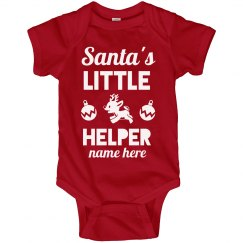Santa's Little Helper Bodysuit