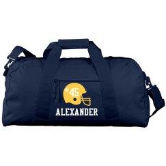 Custom duffel sports bag