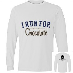 I Run for Chocolate Unisex Tee