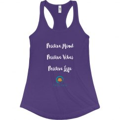 Truly Yoga Positive Racerback Tank (Purple)
