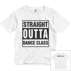 Youth Straight Outta Dance Class Tee