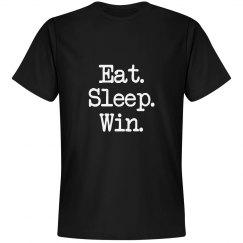 Eat Sleep Win Black Tee
