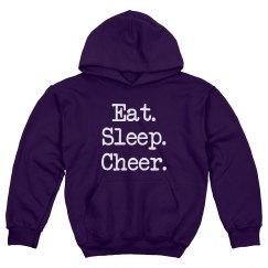 Eat Sleep Cheer Youth Hoodie