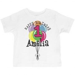 1 year old! Amelia