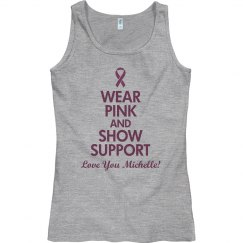 Wear Pink Show Support Custom Tank Top With Name