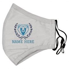 Bear Mascot Custom Name Mask