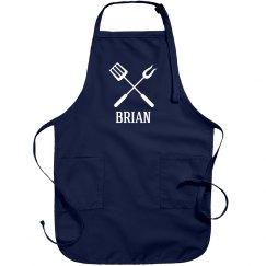 Brian personalized apron
