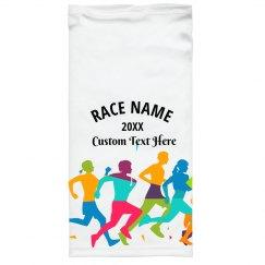 Custom Text Rainbow Runners Face Mask