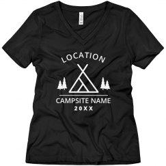 Custom Camping Location Shirt
