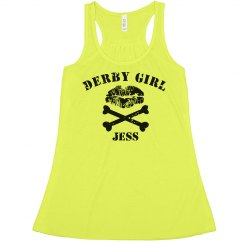 Roller Derby Girl Crop