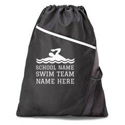 Custom School Swim Team Cinch Bag