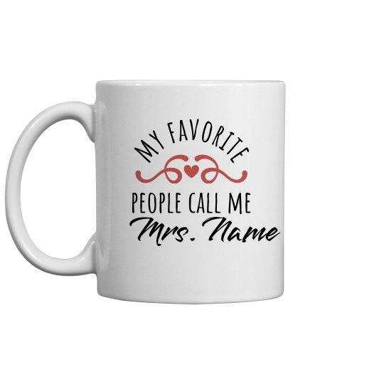 Add A Custom Name Teachers Gift