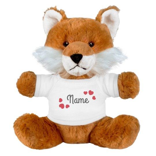 Add A Name In Hearts Custom Fox