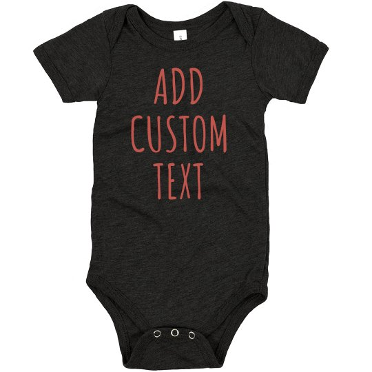 Add Custom Text & Art Baby Gift