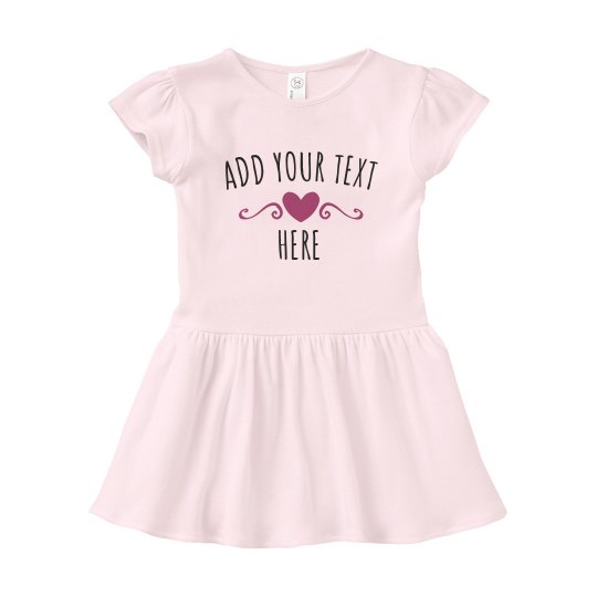 Add Custom Text Baby Girl Dress