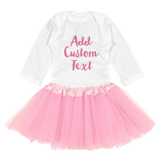 Add Custom Text Gift For Baby