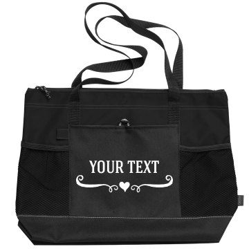 Add Custom Text Tote