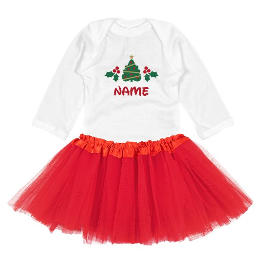 Add Name Christmas Baby Outfit