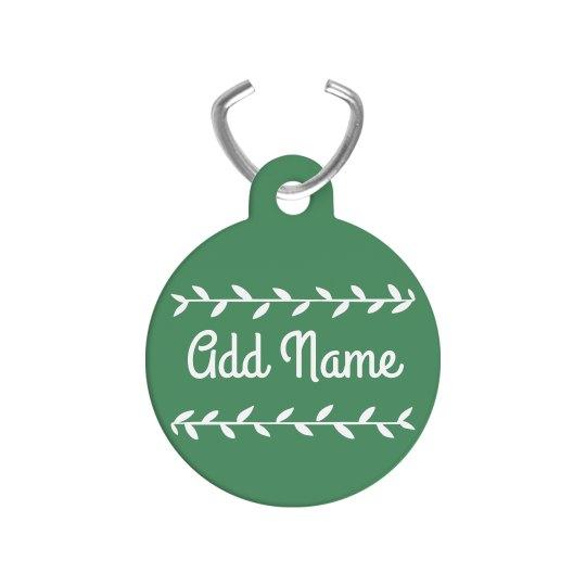 Add Name Custom Vine Dog Tag