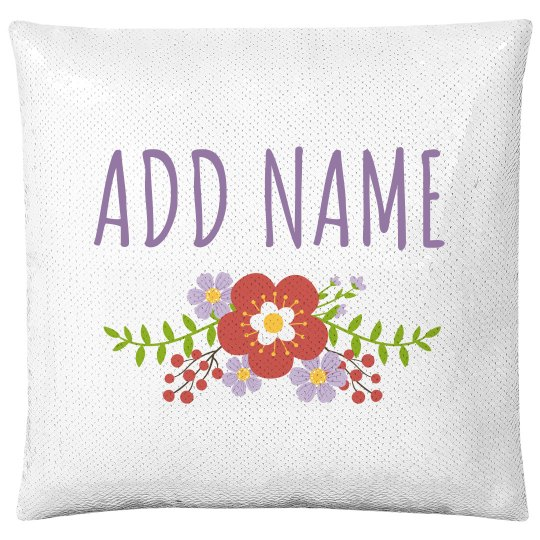 Add Name Floral Little Girl Gift