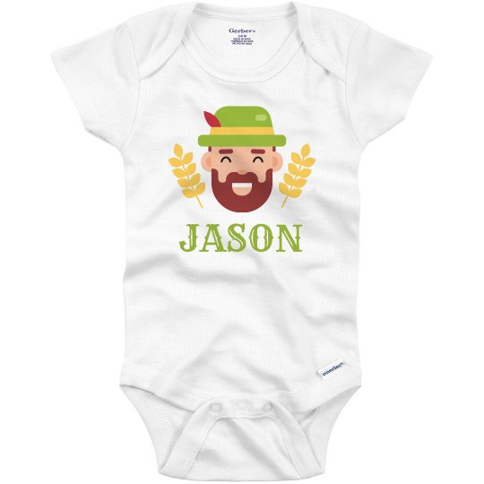 Add Name Oktoberfest Baby Outfit