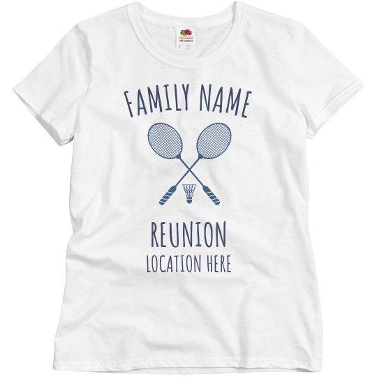 Add Name Reunion Badminton
