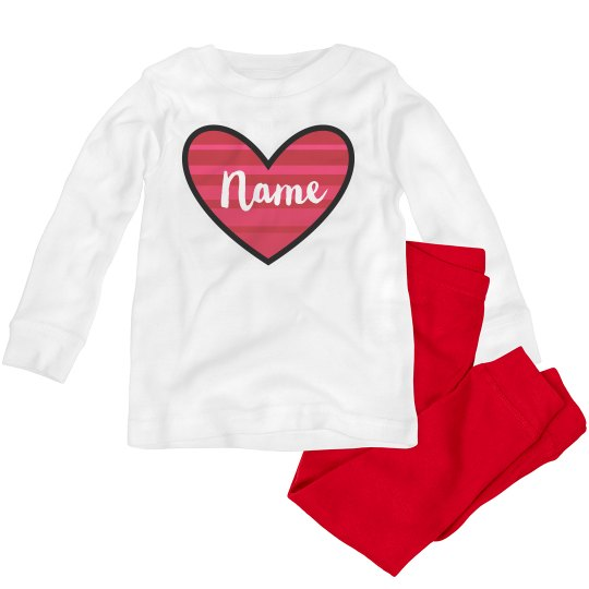 Add Name Toddler Valentine Outfit