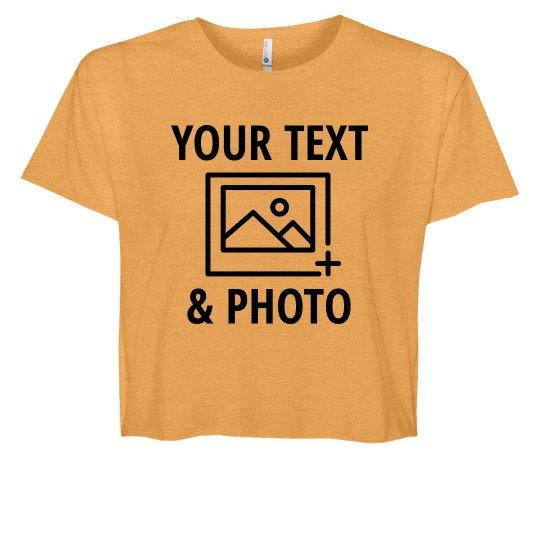 Add Text & Photos Custom Crop