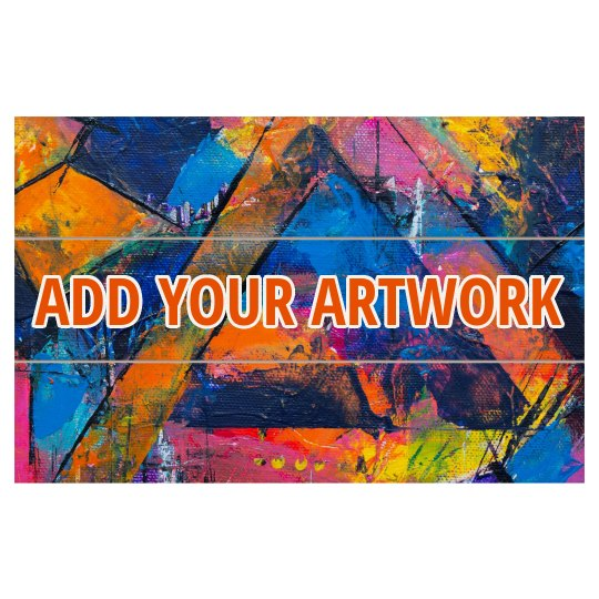 Add Your Artwork Custom Wooden Plank
