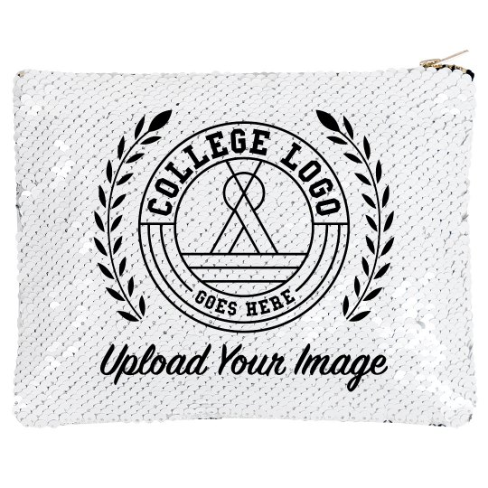 Add Your College Logo Sequin Bag