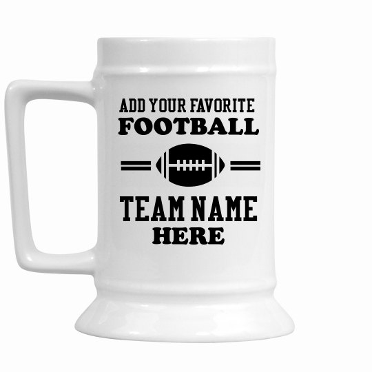 Add Your Favorite Football Team Name Here