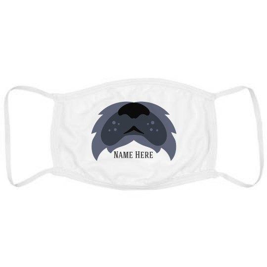 Add Your Name Scruffy Dog Mask
