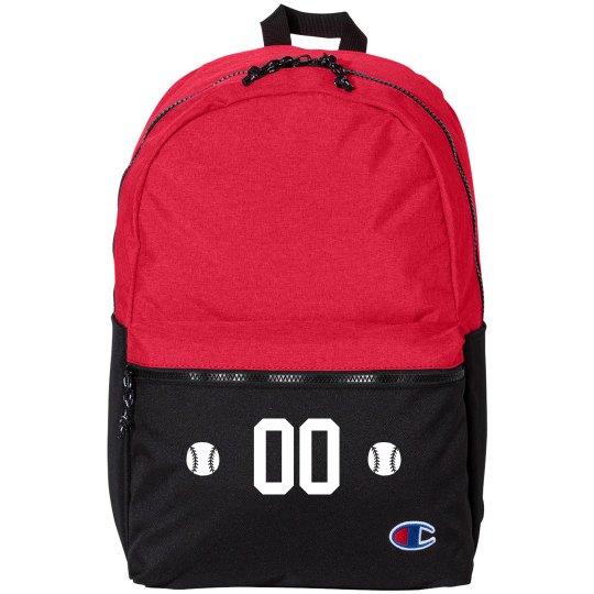 Add Your Number Custom Baseball Bag