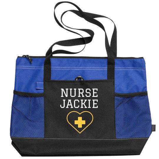 Add Your Own Name Nurse Bag