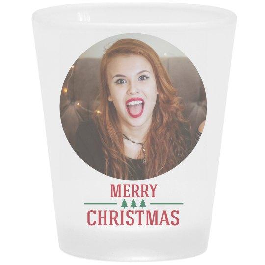 Add Your Photo Christmas Shot Glass