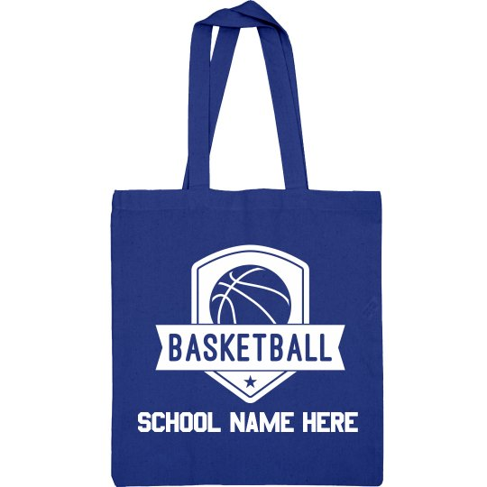 Add Your School Basketball Tote