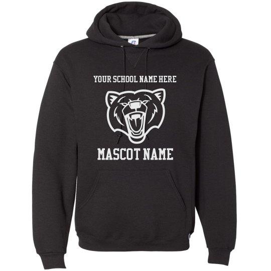 Add Your School Name Mascot Hooded Sweatshirt