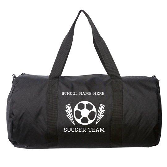 Add Your School Name Soccer Duffel Bag