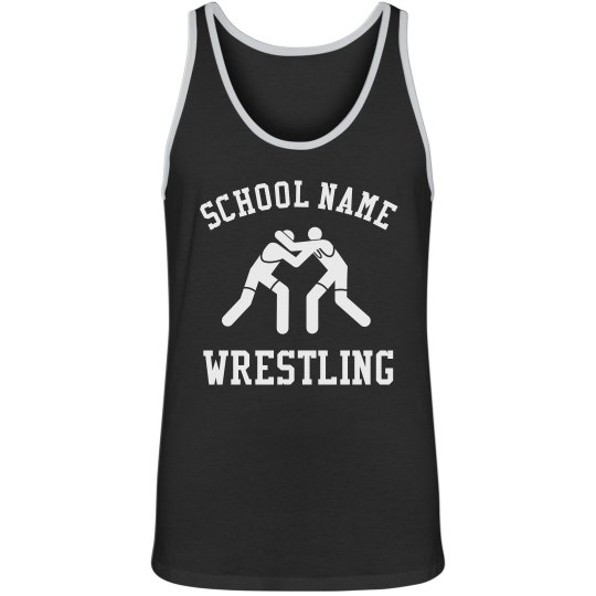 Add Your School Name Wrestling Tank Top