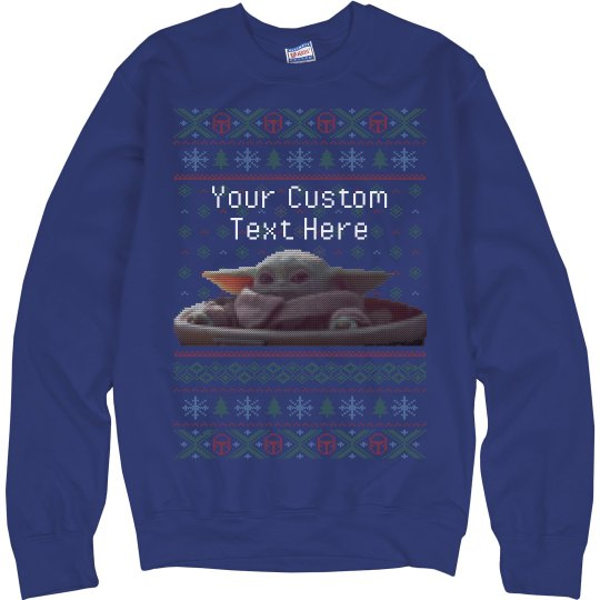 Add Your Text Baby Christmas Sweater