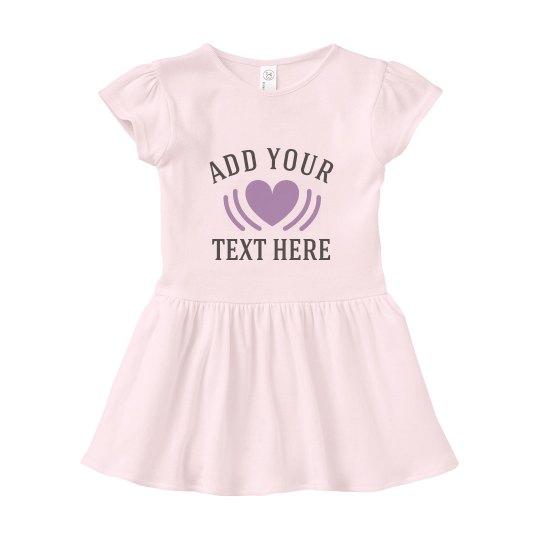 Add Your Text Custom Baby Dress