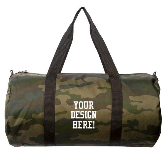Add Your Text Custom Duffle Bag