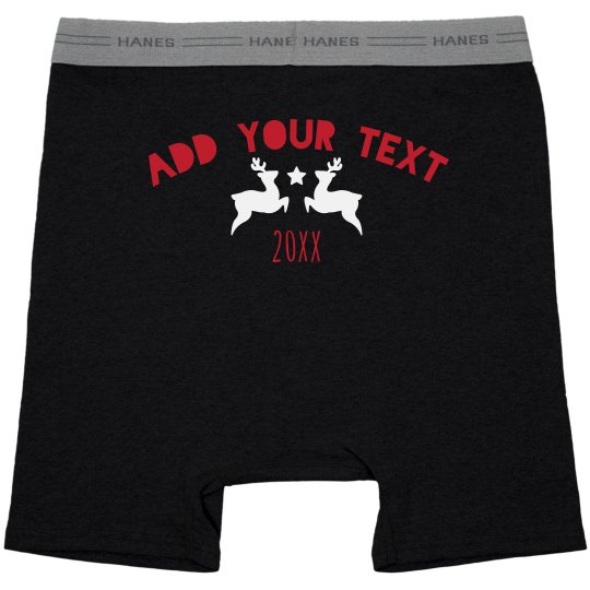 Add Your Text Holiday Mens Underwear