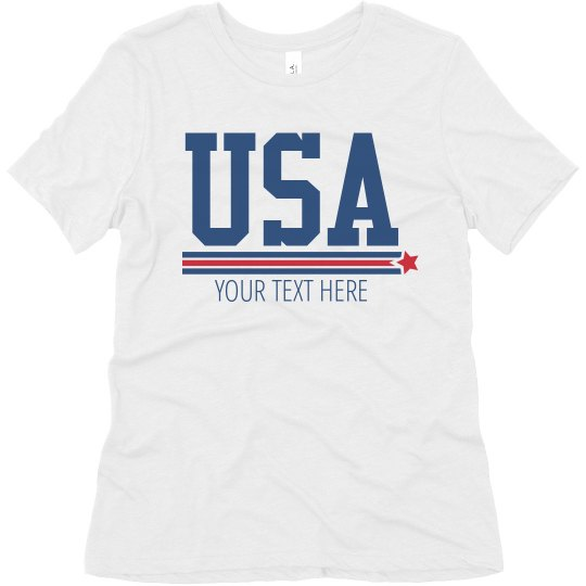 Add Your Text USA Shirt